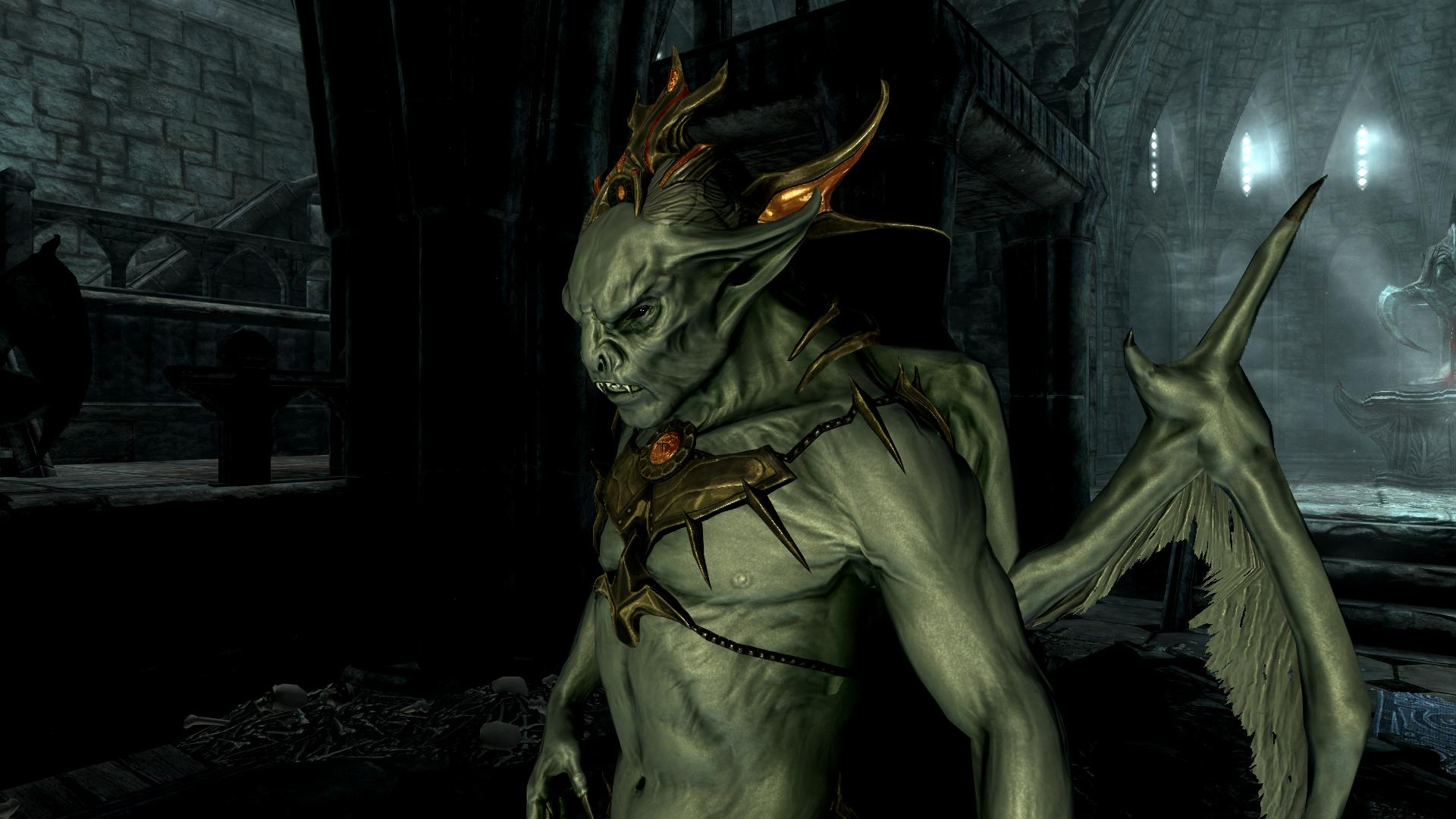 skyrim how to change into a vampire lord