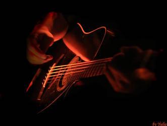 guitar's heart by fotoinsan