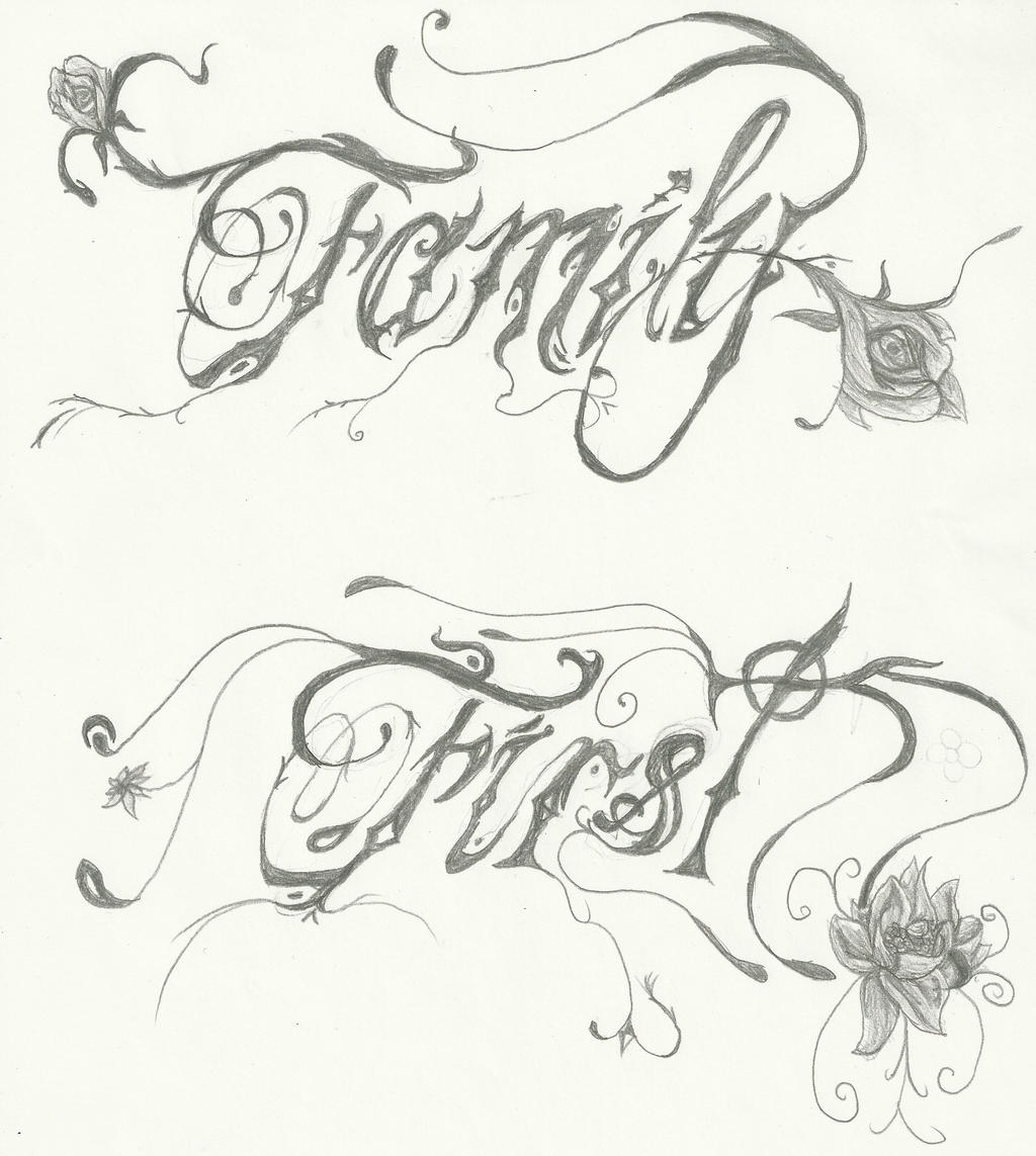 family 1st tattoo font by murderinklastresort on deviantart. Black Bedroom Furniture Sets. Home Design Ideas