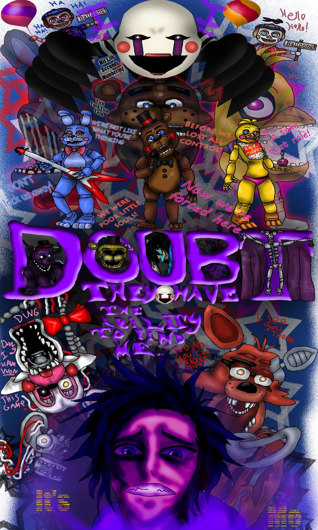 5NaF Full Poster by MurderInkLastResort