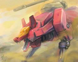 Zoids - Command Wolf by Seylyn