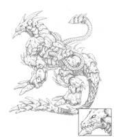Mecha Dragon - Uncolored by Seylyn