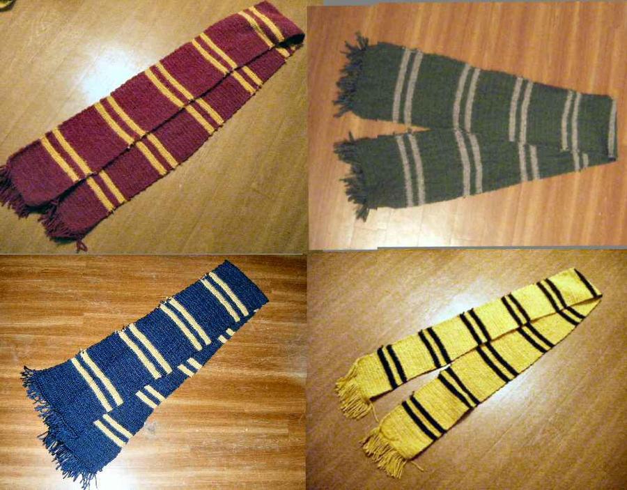 hogwarts house scarves by deliriumdreamer3 on deviantart