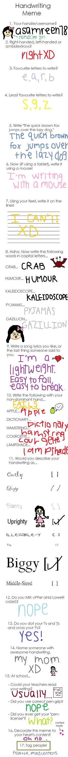 Handwriting Meme--FAIL! by asamreen78