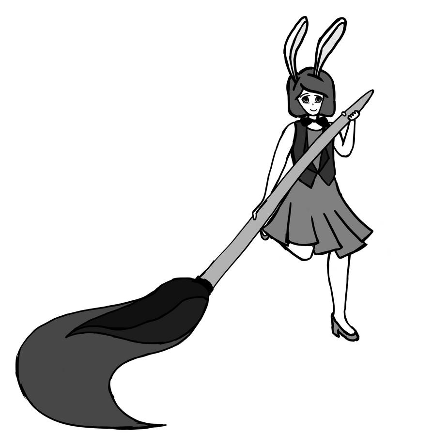Bunny Girl Painting by elf-mermaid
