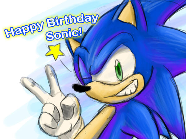 Happy Birthday Sonic! by DrakorDragon