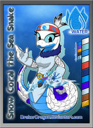 Snow Coral the Sea Snake (New OC) by DrakorDragon