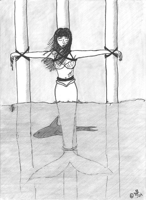 A Tied up Mermaid by Miruru-chan