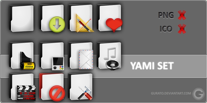 WIP Yamilk Icon Pack by Gurato