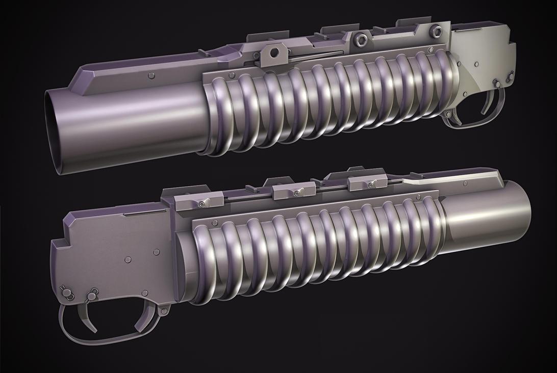 M203 Grenade launcher by Tom3dJay