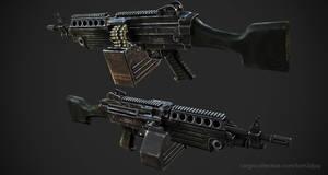 M249 LMG textured by Tom3dJay
