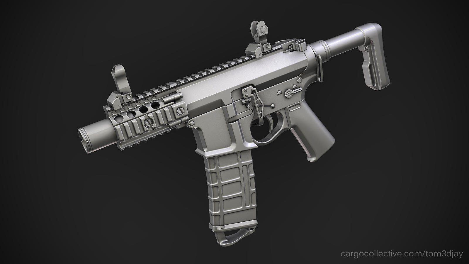 Cute AR15 PDW by Tom3dJay