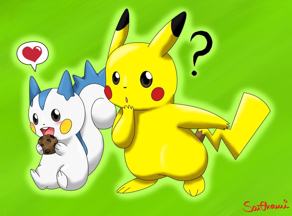 Pikachu And Pachirisu Love