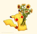 Pikachu and Sunflower