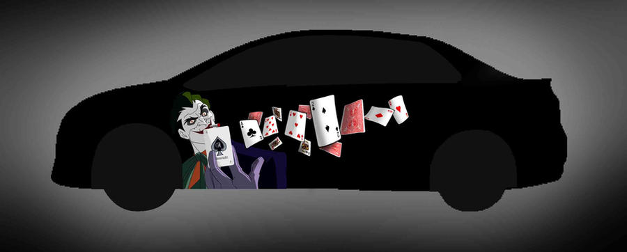 Joker throwing card on toyota vios decals design by andyoaryoga