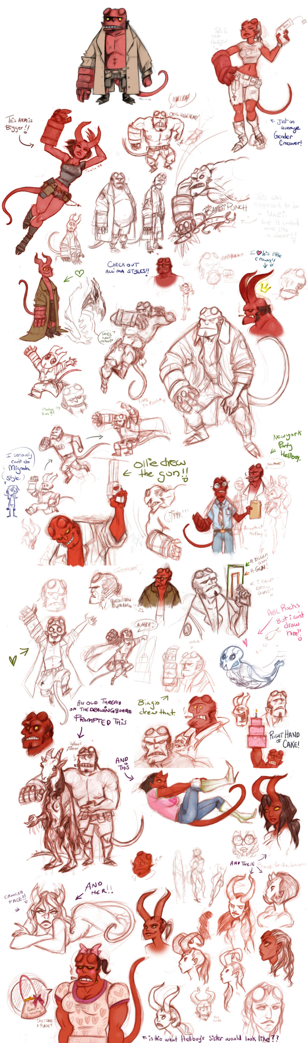 Right Hand of Cake Sketchdump by thalia-is-crazy