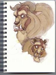 Fan art 1 - the beast by thalia-is-crazy