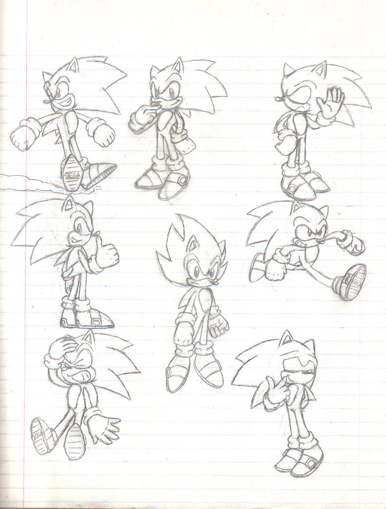 Sonic Poses 1 by Stealthfang