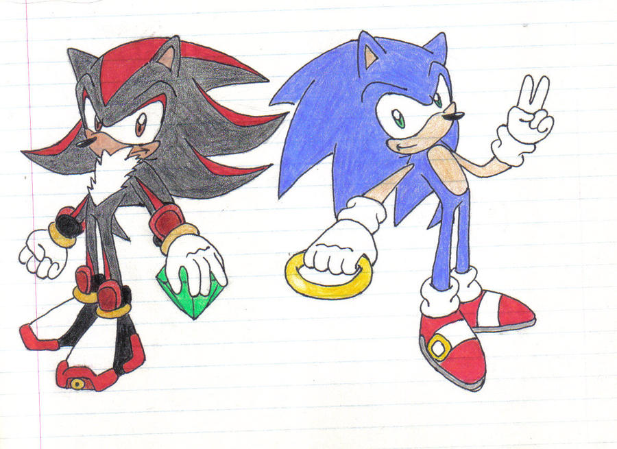 Sonic and Shadow by Stealthfang on DeviantArt