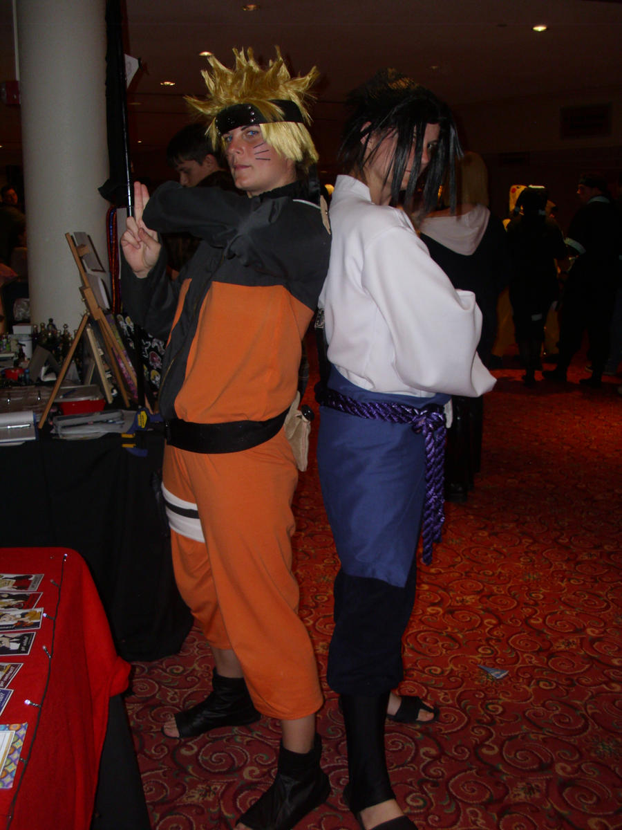 Naruto and Sasuke by RayneDarkknight