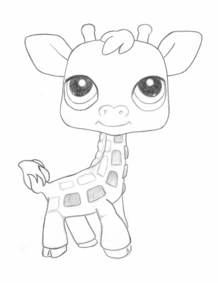 LPS Giraffe Coloring Page By Spitfire Anne