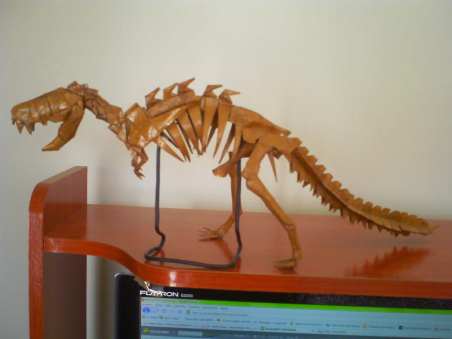 Origami T Rex Skeleton By Kosmu