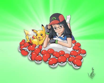 My friend as pokemon trainer