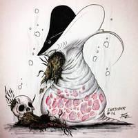 Inktober #16 - Fat/The Ray Fish/Rotting Flesh