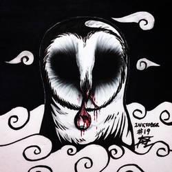 Inktober #19 - Cloud/The Owl/Eye Removal