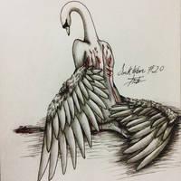 Inktober #20 - Deep/Swan/Excessive Gashes-Bruises