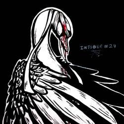 Inktober #24 - Blind/The Swan/Oozing Blood