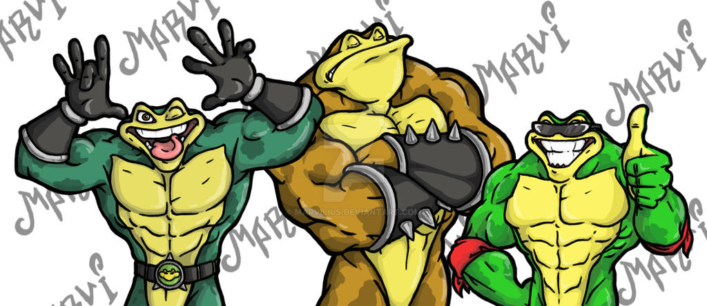 Mad, Bad and Crazy toads by Marvilius