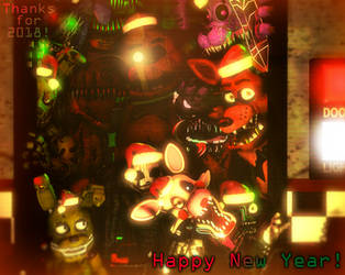 [FNaF SFM] Thanks for 2018, and happy New Year! by AftonProduction