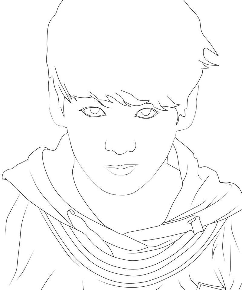 Line Art How To : Line art jungkook bts by rufatiani on deviantart