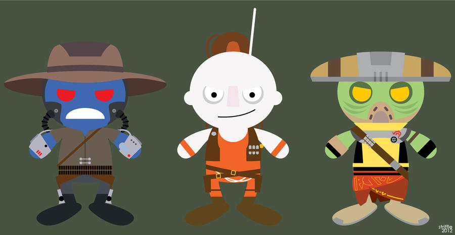 Almost Daily Characters: Bounty Hunters 2 by striffle