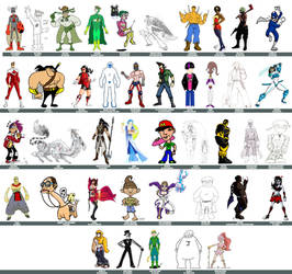 dA Original Character Lineup