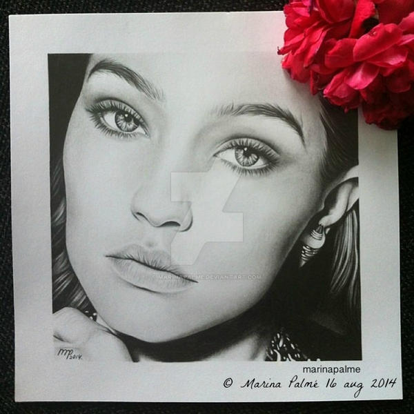 Drawing - Gigi Hadid. by MarinaPalme