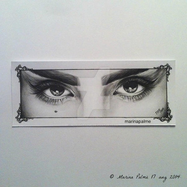 Drawing - Marz Leon eyes. by MarinaPalme