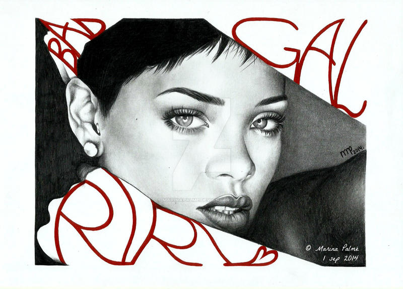 Drawing - Bad gal Riri. by MarinaPalme