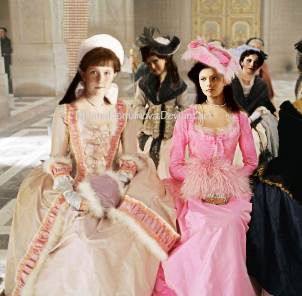 Anastasia Tatiana Maria Olga, the imperial ball by TatianaRomanova