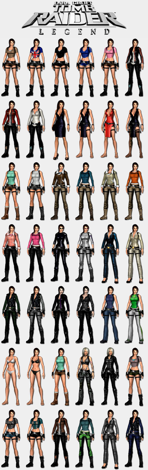 Tomb raider legend lara s outfits by hailsatana on