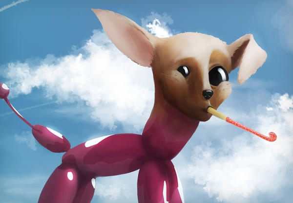 Balloon dog by Abstractivity-Art