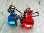 Health and Mana Potion Glass Bottle Keychains