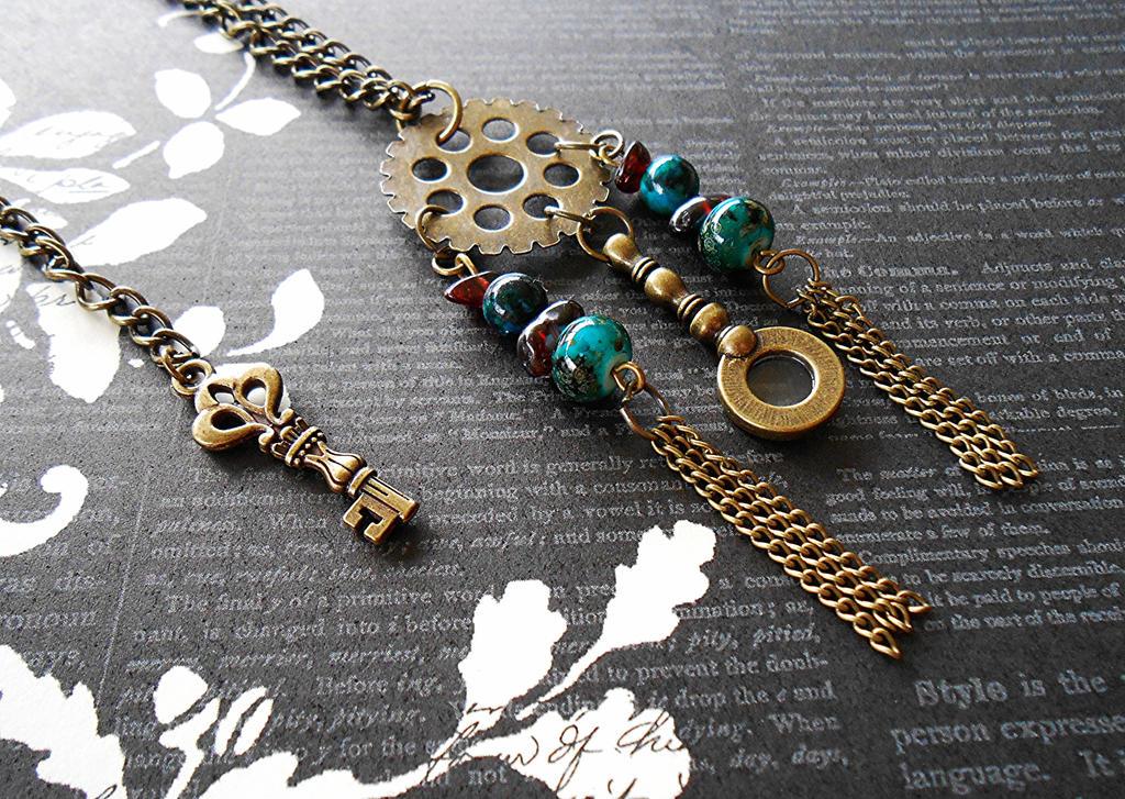 Steampunk Dream Catcher Necklace by random-wish