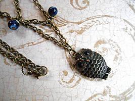 SOLD: Zig Zag Owl Chain Necklace by random-wish