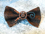SOLD: Victorian Steampunk Coil Hair Bow/Bow Tie