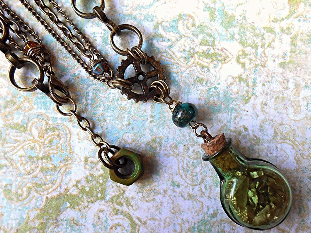 Steampunk Alchemist Jewelry Set