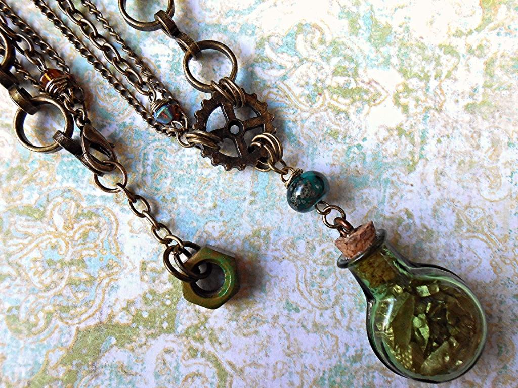 Steampunk Alchemist Jewelry Set by random-wish