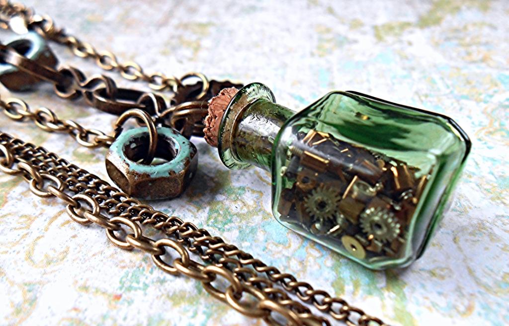 Steampunk Tinker Jewelry Set by random-wish