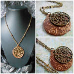 Clockwork Heart Leather Steampunk Necklace